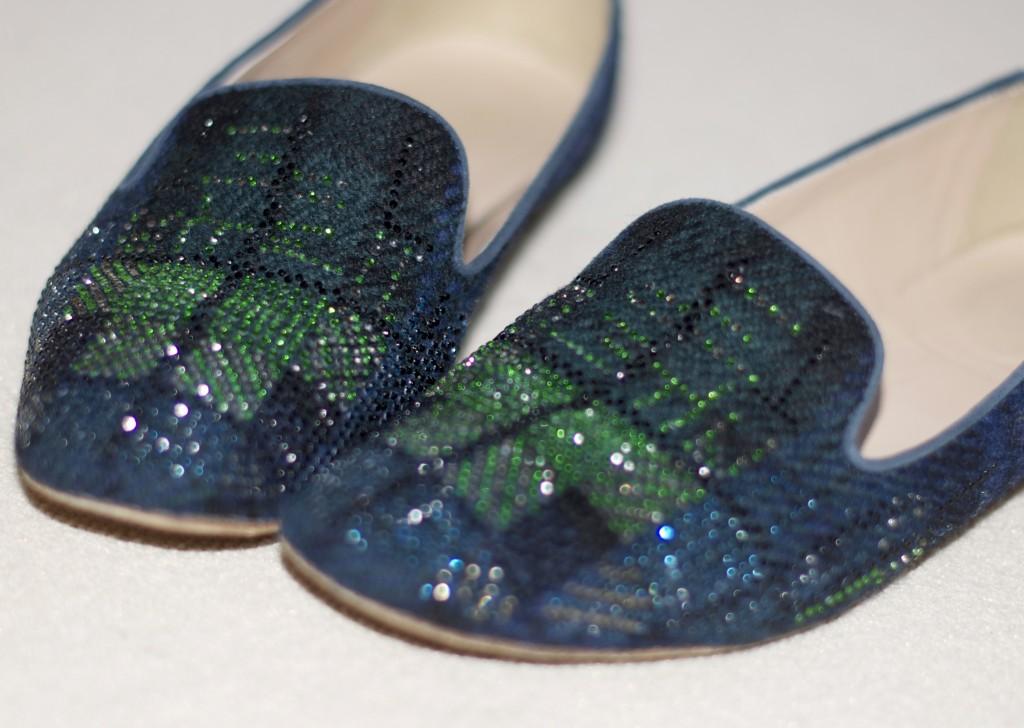 sparkly slippers j.crew