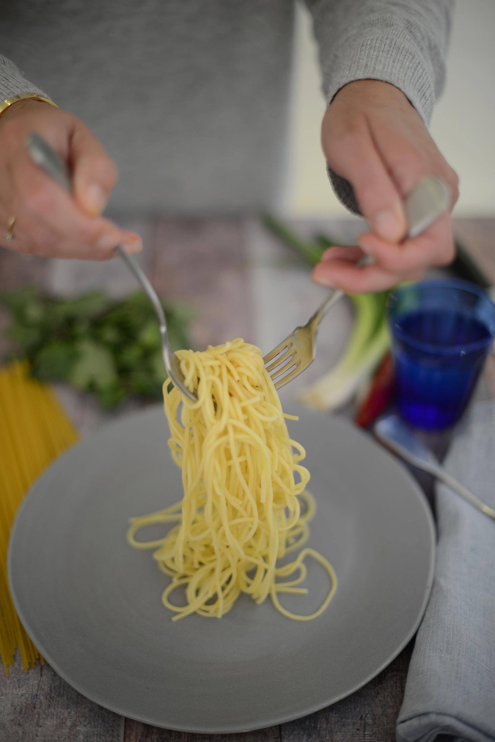 spicy prawns with spaghetti recipe