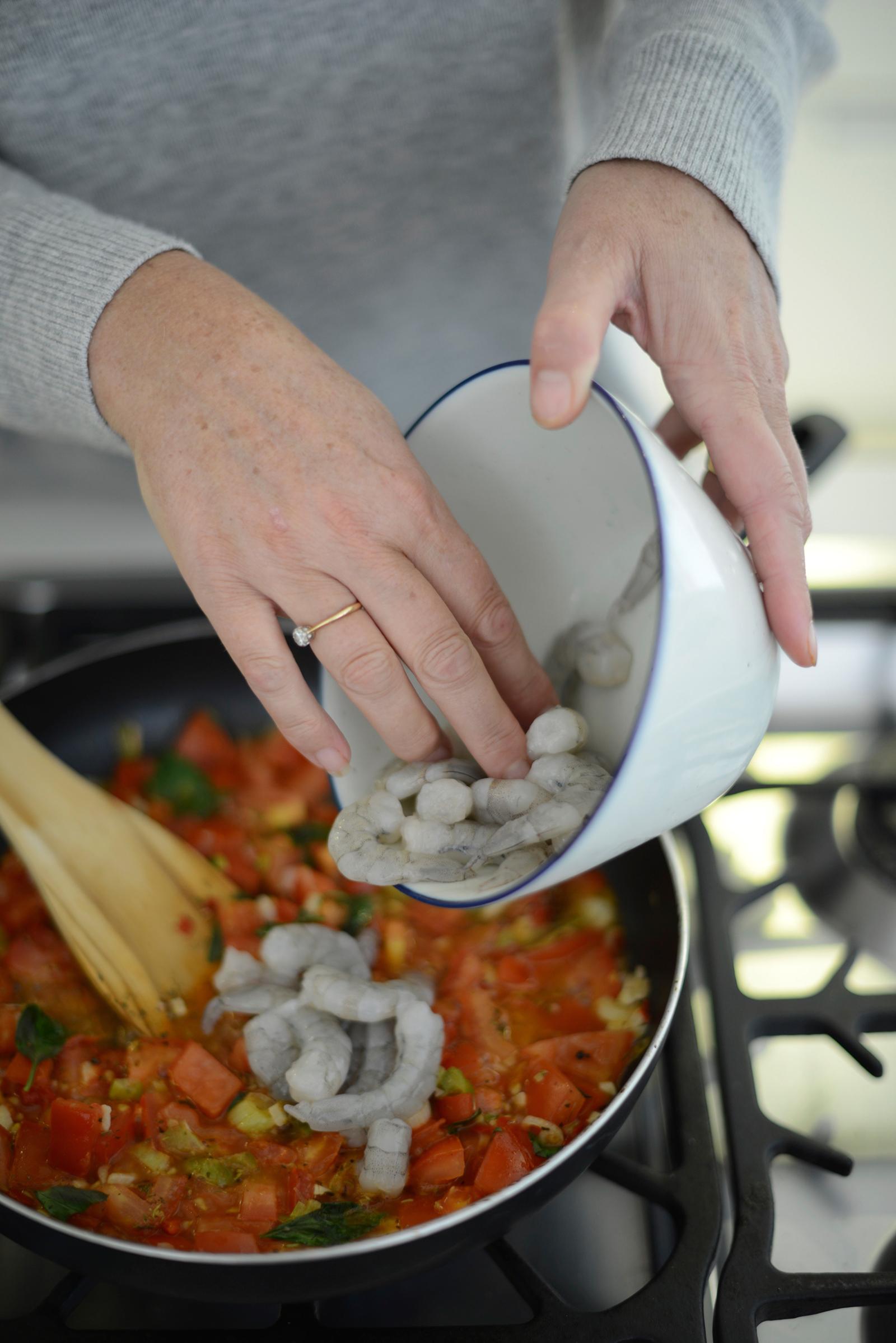 spicy prawn with spaghetti recipe