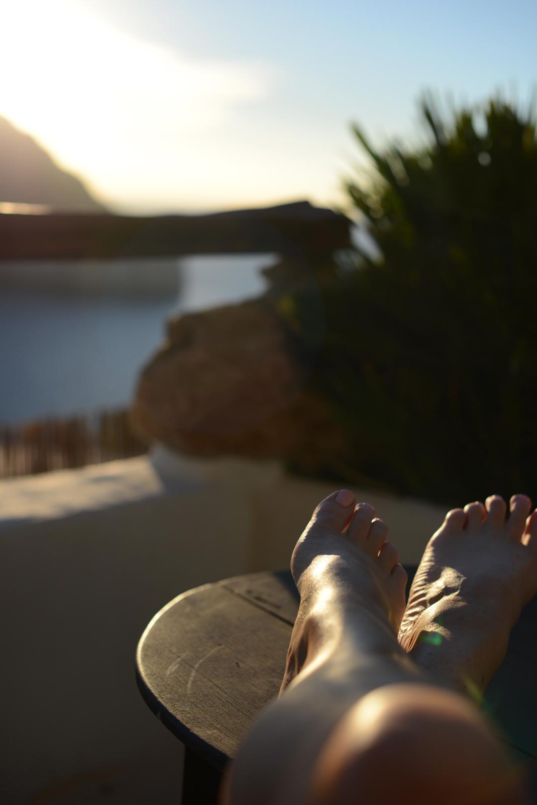 sara delaney relaxing in a luxury suite at hacienda na xamena in ibiza