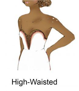 high waisted bodyshape illustration by zarina liew