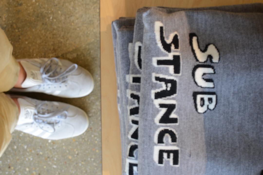 slogan bella freud knit photographed by stylist and fashion blogger sara delaney