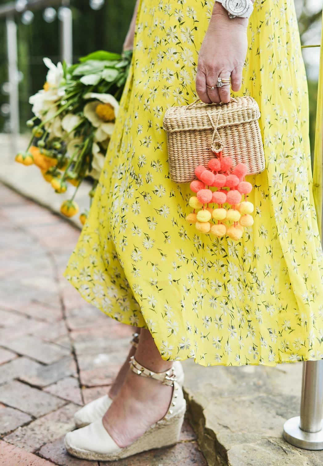 how to wear yellow - sara delaney wears L.K. Bennett dress