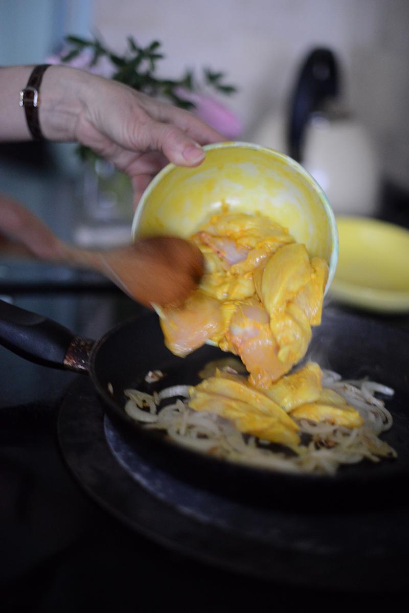 how to make chicken tagine