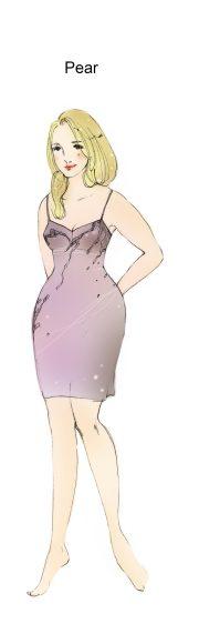 pear bodyshape illustration by zarina liew