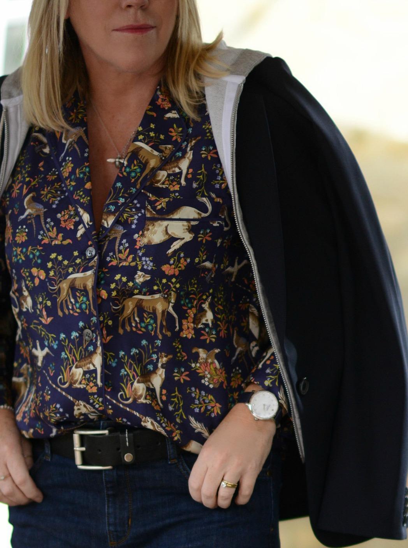 pyjama trend shirt worn by fashion stylist and blogger sara delaney