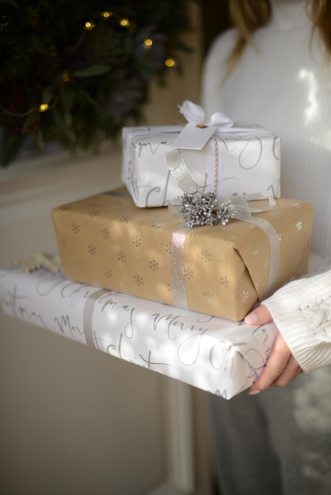 festive gift wrap