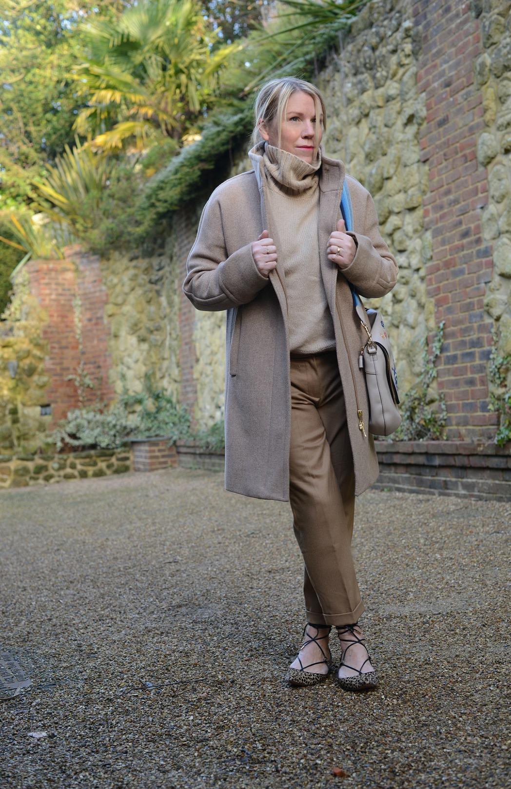 camel hues worn by stylist and fashion blogger sara delaney