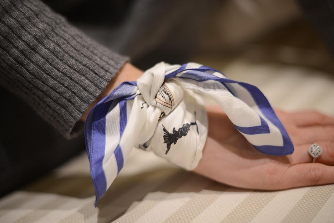 3 ways to work a silk scarf by stylist and fashion blogger sara delaney